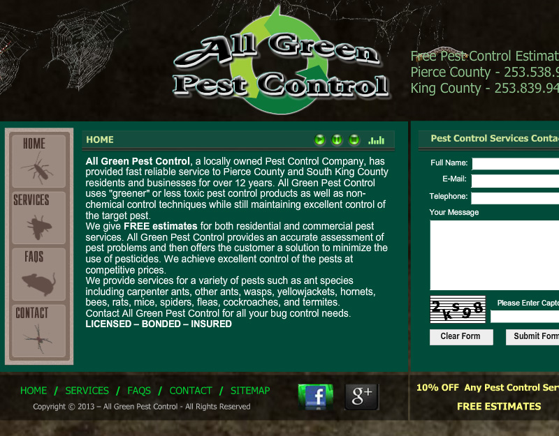 All Green Tacoma Pest Control